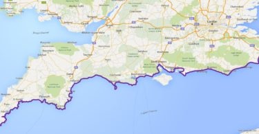 Trasa Lands End-Dover